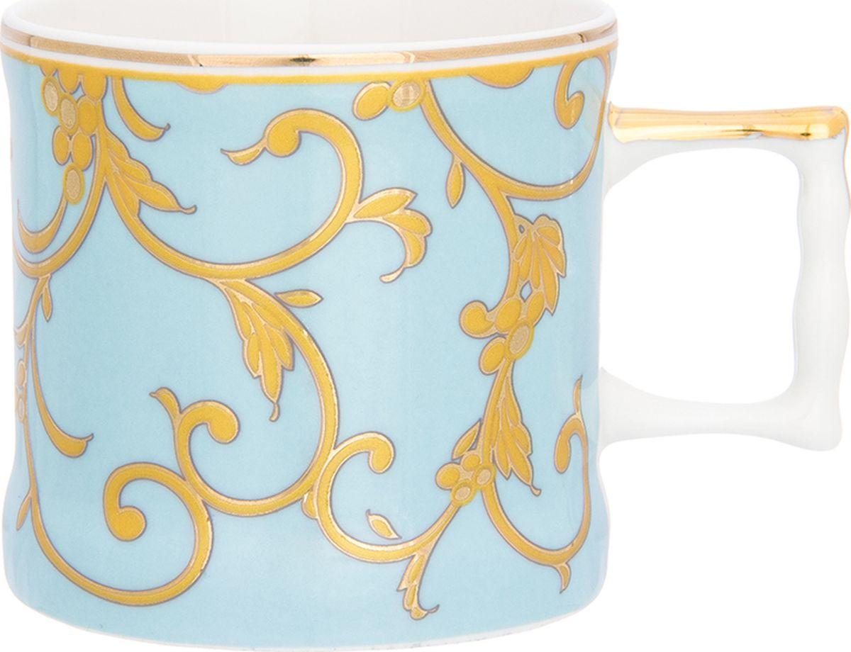 Кружка Elan Gallery Королевский узор на голубом, 175 мл. 504110504110Кружка станет отличным дополнением к сервировке семейного стола и замечательным подарком для ваших родных и друзей. Размер 10х7,3х6,5 см. Объем 175 мл.