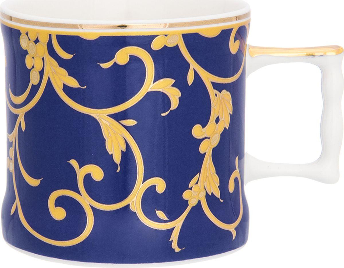 Кружка Elan Gallery Королевский узор на синем, 175 мл. 504111504111Кружка станет отличным дополнением к сервировке семейного стола и замечательным подарком для ваших родных и друзей. Размер 10х7,3х6,5 см. Объем 175 мл.