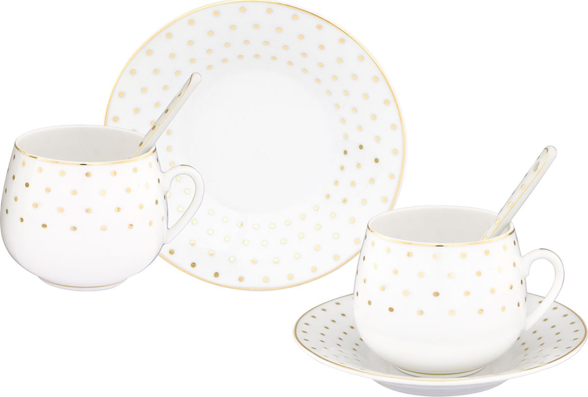 Кофейная пара Elan Gallery Звездное небо, 130 мл, 4 предмета. 730301730301Шикарная кофейная пара на 2 персоны - это отличный подарок, подходящий для любого повода. В комплекте 2 чашки н объемом 130 мл, 2 блюдца.