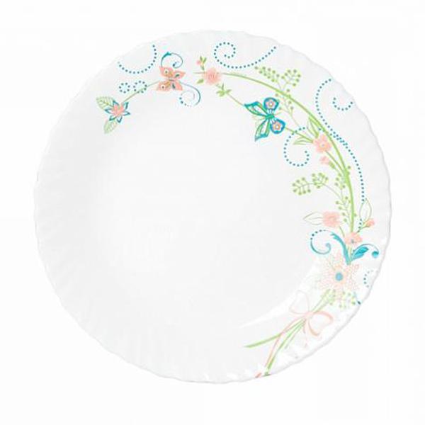 Тарелка обеденная Luminarc Colombelle, диаметр 25 смL5259Тарелка обеденнаяиз серии Luminarс Carine Colombelle выполнена из ударопрочного стекла, устойчива к резким перепадам температуры. Подходит для использования в посудомоечной машине и СВЧ. Тарелка предназначена для сервировки вторых блюд из птицы, рыбы, мяса или овощей. Современный дизайн и оригинальный декор сделают тарелку прекрасным дополнениям к вашим кулинарным шедеврам.