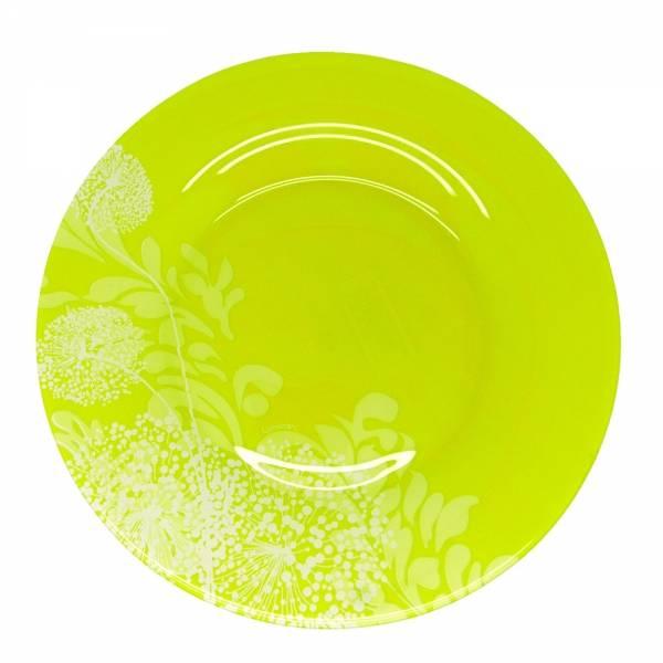 Тарелка обеденная Luminarc ПЬЮМЭ ГРИН, диаметр 25 смJ7892Бренд Luminarc – это один из лидеров мирового рынка по производству посуды и товаров для дома. В основе процесса изготовления лежит высококачественное сырье, а также строгий контроль качества. Товары для дома Luminarc уважают и ценят во всем мире, а многие эксперты считают данного производителя эталоном совершенства.