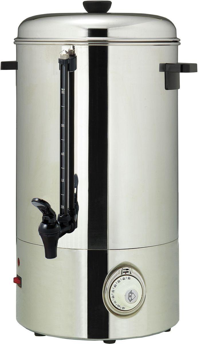GASTRORAG DK-PU-100 кипятильникDK-PU-100Кипятильник GASTRORAG DK-PU-100 идеально подходит для кипячения воды, хранения и розлива горячей воды при приготовлении горячих напитков.Кипятильник работает от сети с напряжением 220 вольт, что позволяет его использовать везде, где есть бытовая розетка с заземлением.Терморегулятор с диапазоном регулировки температуры от 30 до 110°C позволяет поддерживать постоянную заданную температуру воды.Корпус, выполненный из высококачественной нержавеющей стали, обеспечивает жесткость конструкции и долгий срок службы.Нагревательный элемент в этой модели закрыт, что позволяет уберечь его от накипи.