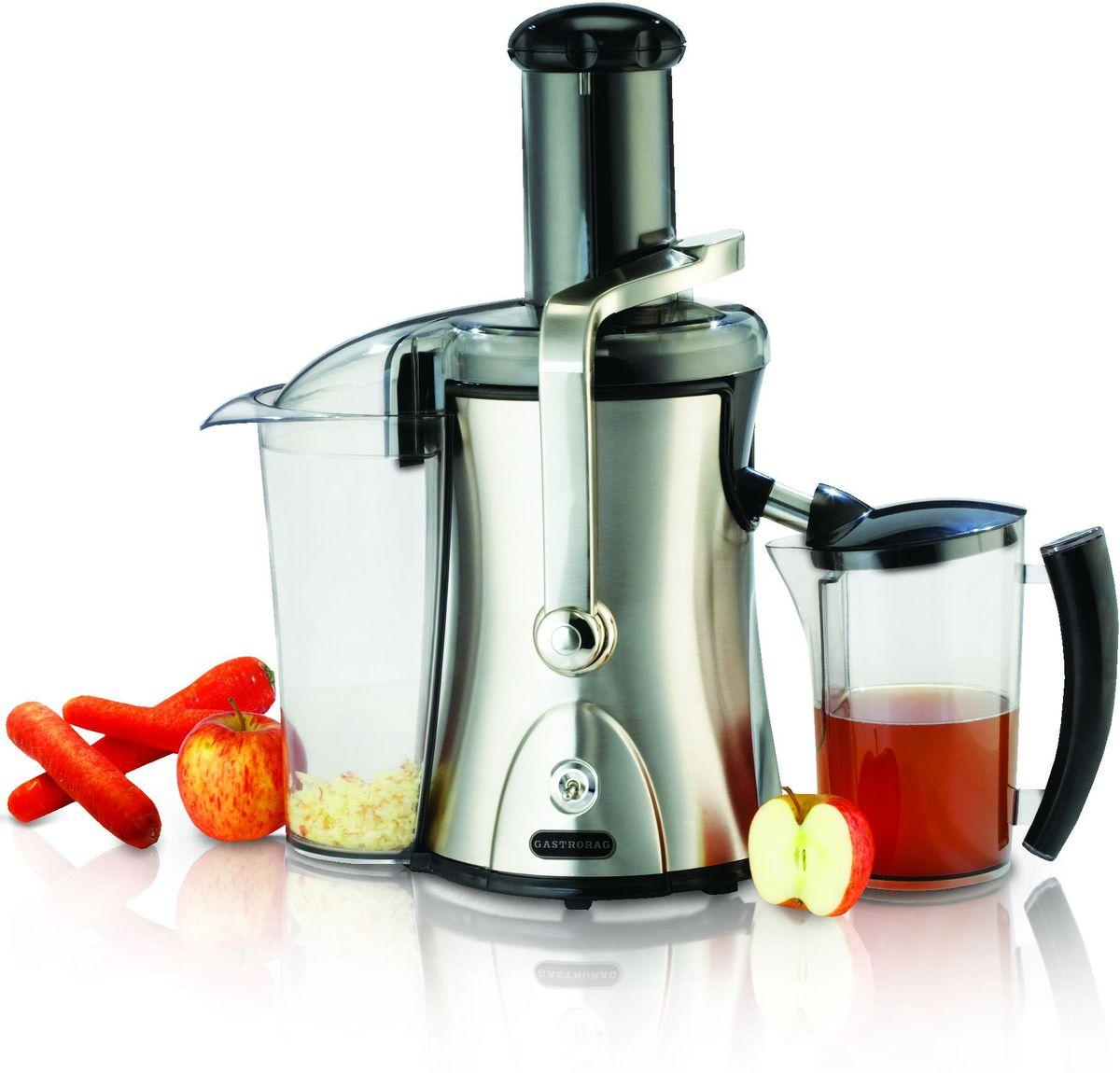 GASTRORAG HA-007, Silver соковыжималкаHA-007Тип прибора: для фруктов и овощей Высота (см): 46 Ширина (см): 32 Глубина (см): 23Центробежная. 2 скорости (7500/11000 об./мин). Автоматическое отделение отходов. Контейнер для отходов емкостью 2,2 л. Контейнер для сока емкостью 1,5 л. Нерж.сталь/пластмасса. Вес: 4 кг.