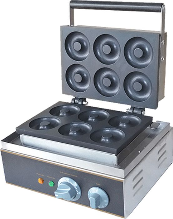GASTRORAG HDM-6 фритюрницаHDM-6Аппарат для пончиков GASTRORAG HDM-6 настольный, чугунные пресс-формы с 6 ячейками для пончиков, рабочая температура 50-300 °С.