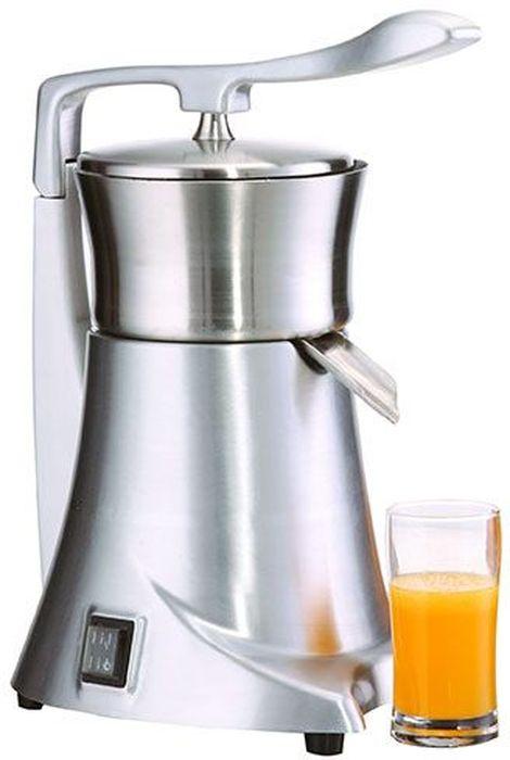 GASTRORAG SJ-CJ6, Silver соковыжималкаSJ-CJ6Соковыжималка GASTRORAG SJ-CJ6 предназначена для приготовления свежего сока из цитрусовых, электрическая, 1450об/мин, с прижимным рычагом и мультиконусом.