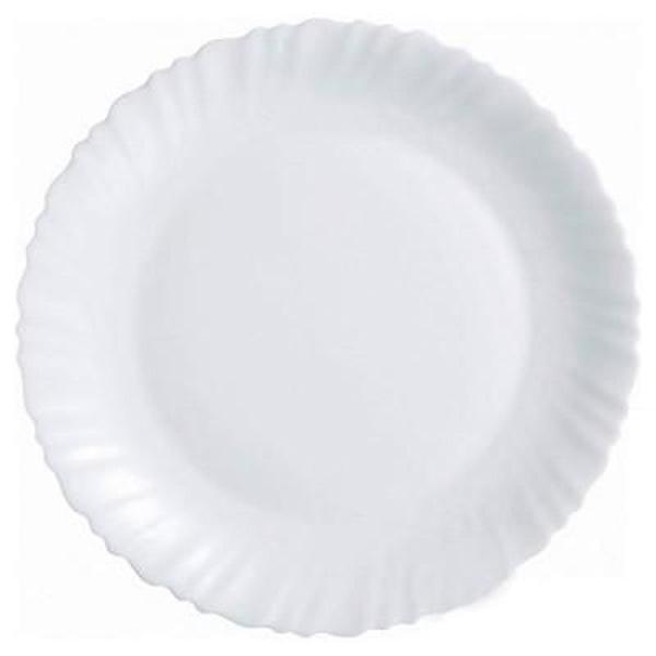 Тарелка обеденная Luminarc Feston, диаметр 23 см06953Тарелка обеденная из серии Luminarc Feston выполнена из ударопрочного, закаленного стекла, устойчива к резким перепадам температуры. Может использоваться в посудомоечной машине и СВЧ. Тарелка подойдет для сервировки вторых блюд, а так же ее можно использовать, как подстановочную под суповые тарелки. Благодаря простоте и лаконичности дизайна, тарелка может использоваться как в ресторанном бизнесе, так и на домашней кухне.