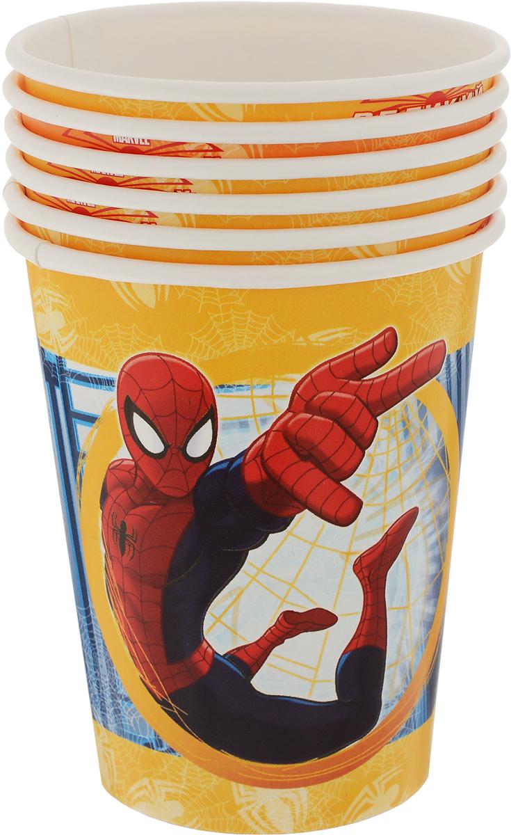 Веселая затея Стакан Великий Человек-паук 6 шт стакан пластиковый с соломинкой и крышкой спортивный 430 мл человек паук 2017 stor