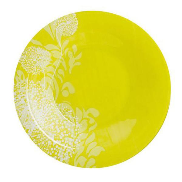 Тарелка суповая Luminarc Pium Green, диаметр 21 смJ7894Тарелка суповая желтая из серии Luminarc Pium Green выполнена из ударопрочного стекла, устойчива к резким перепадам температуры. Благодаря высокому качеству окраски, сохранит свою яркость и новизну даже после частного использования в посудомоечной машине и СВЧ. Тарелкапредназначена для подачи первых блюд, вмещает 450мл жидкости (до самого края). Комфортно в тарелку помещается 3 половника супа (тогда она не будет заполнена до самого края). С яркой и красочной тарелкой Ваш семейный обед превратится в настоящий праздник.
