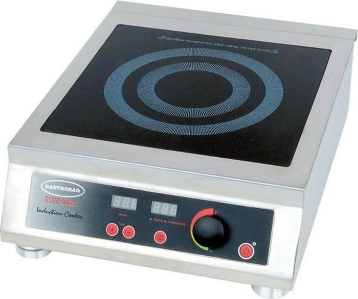 GASTRORAG TZ BT-350B настольная плитаTZ BT-350BПлита GASTRORAG TZ BT-350B электрическая, настольная, индукционная, 1 зона нагрева, кнопочное управление, ручка регулировки мощности (15 уровней 500-3500 Вт), рабочая температура 60-240 °С, электронный таймер 0-120 мин.