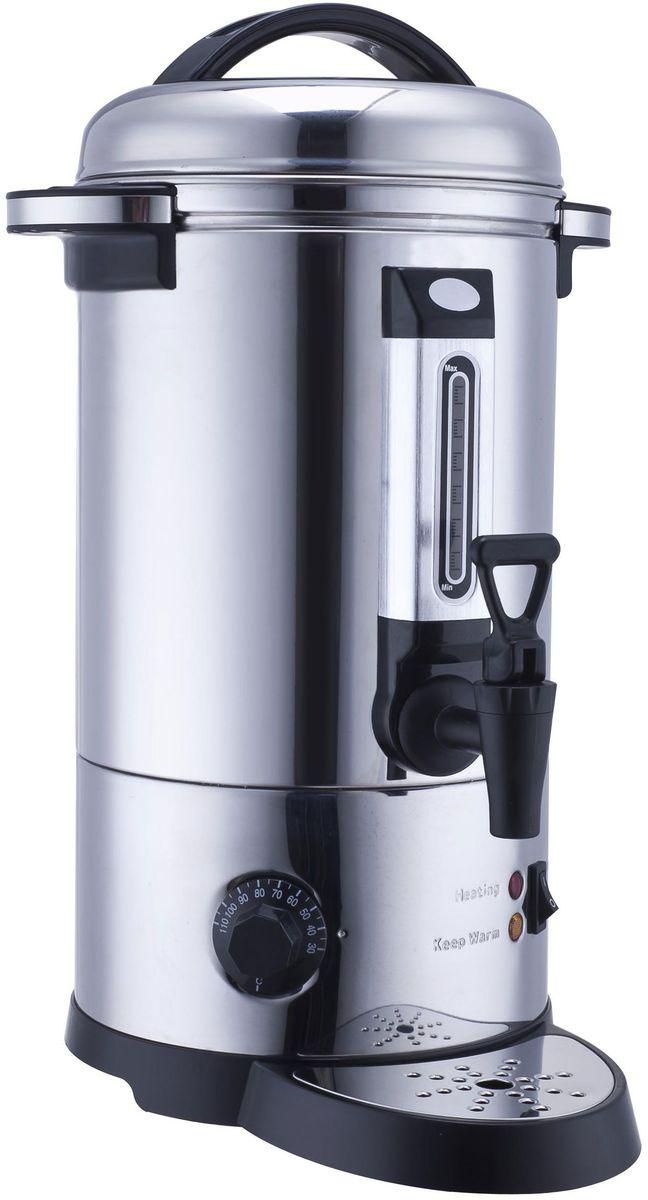 GASTRORAG DK-LX-100 кипятильникDK-LX-100Кипятильник GASTRORAG DK-LX-100 наливного типа, не требующий подключения к водопроводу, предназначен для обеспечения горячей и теплой водой. Объем резервуара данной модели составляет 10 литров, что прекрасно подходит для малых и средних предприятий общественного питания.Кипятильник прочный, выполнен из нержавеющей стали, прост в уходе и очистке от накипи благодаря закрытому нагревательному элементу, а наличие терморегулятора, мерного стекла, каплесборника и разливного крана делают оборудование еще и удобным в эксплуатации.Терморегулятор работает в диапазоне от 30°C до 110°С.Панель управления кипятильника - электромеханическая.