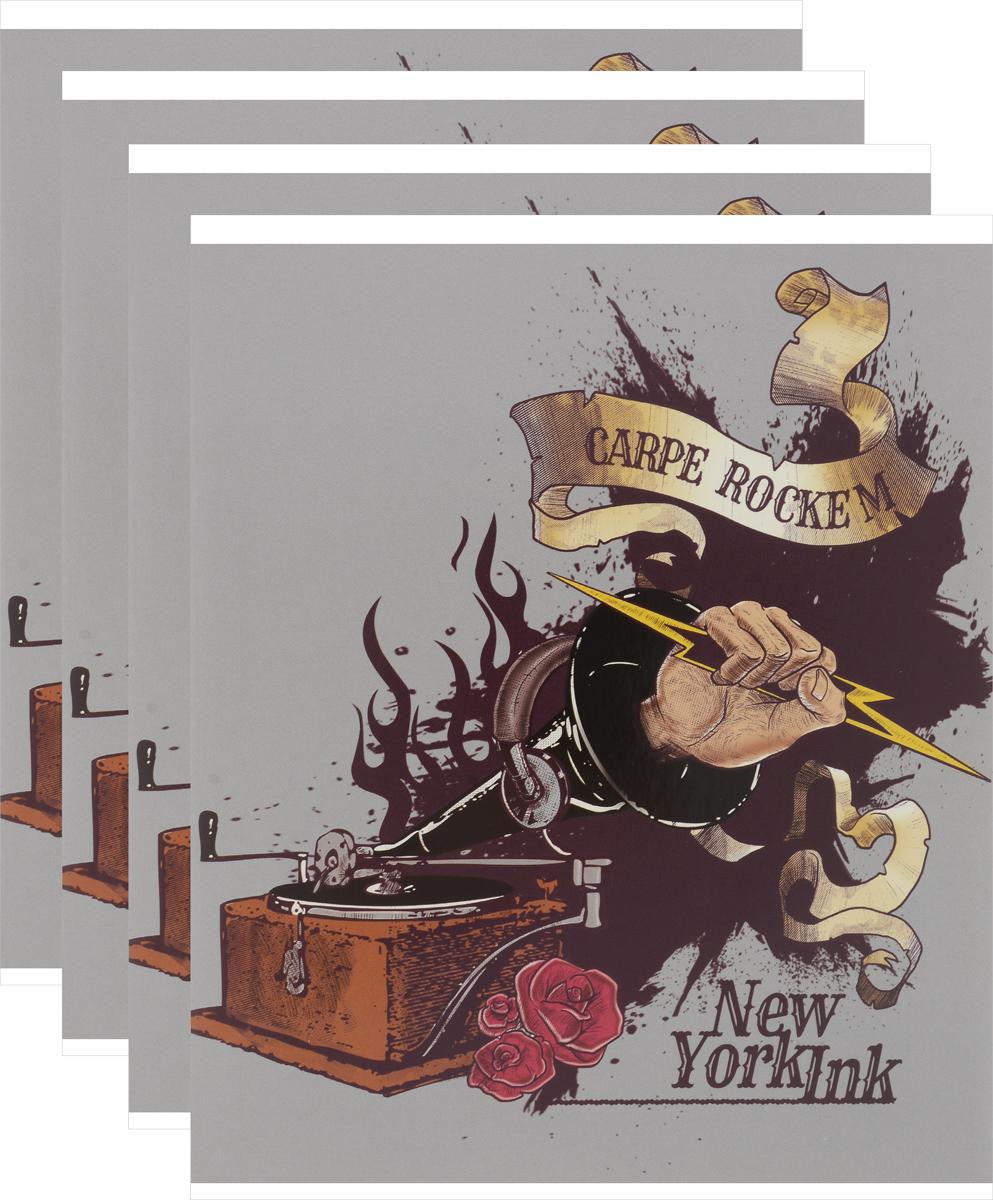 Action! Набор тетрадей New York Ink 48 листов в клетку 4 штDI-AN 4801/5_патефонКомплект тетрадей Action! New York Ink включает в себя 5 тетрадей в клетку.Обложка каждой тетради изготовлена из плотного картона. Внутренний блок состоит из 48 листов белой бумаги, соединенных скрепками. Стандартная линовка в клетку дополнена полями.