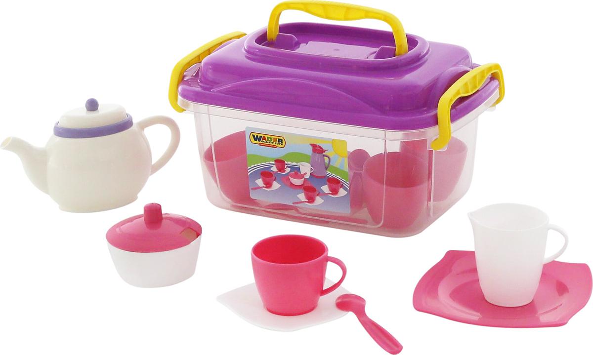 Полесье Набор игрушечной посуды Алиса на 4 персоны 58980 кукольные домики и мебель tigres набор посуды ромашка на 4 персоны большой