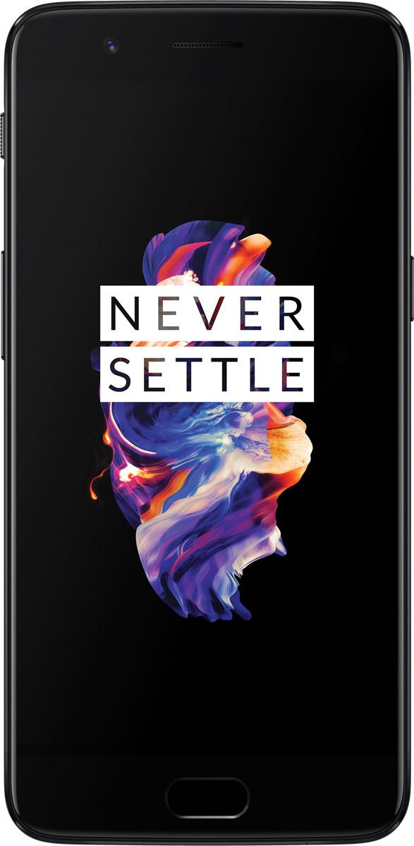 OnePlus 5 128GB, Midnight Black5011100021Смартфон OnePlus 5 объединяет то, что пользователи больше всего любят в наших смартфонах и то, что они хотели бы видеть в них в будущем.С OnePlus 5 Вы получаете:Гладкий ультратонкий цельнометаллический корпусЯркий 5,5-дюймовый FHD дисплей Optic AMOLED с 2.5D защитным стеклом Corning Gorilla Glass 5Восьмиядерный процессор Snapdragon 835 Технологию Dash Charge: зарядка свыше 60% за 30 минут. Быстрая зарядка продолжается даже во время игр или просмотра потокового видео20 Мп + 16 Мп Двойную основную камеру с молниеносным срабатыванием затвора, фазовым автофокусом PDAF и системой стабилизации EIS 16 Мп фронтальную камеру с функцией распознавания улыбки Smile Capture для быстрого и безупречного селфиЛидирующие на рынке 8 Гб оперативной памяти наряду с 128 Гб встроенной памятиБыструю и чистую работу операционной системы OxygenOS на базе самой последней версии Android 7.1.1, которая не содержит ничего лишнего