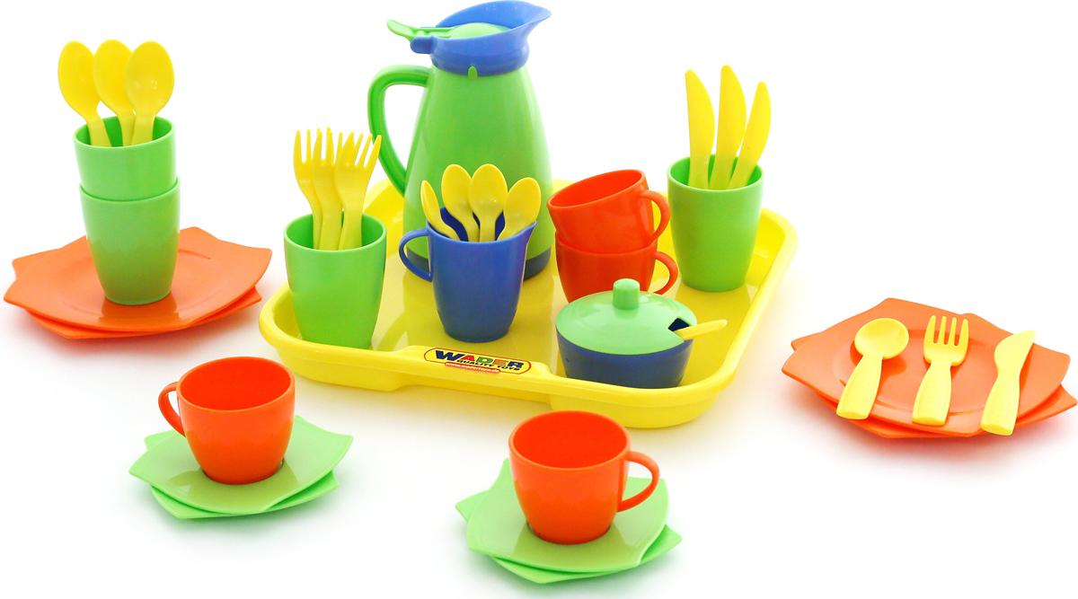 Полесье Набор игрушечной посуды Алиса 40640 полесье полесье игровой набор садовый