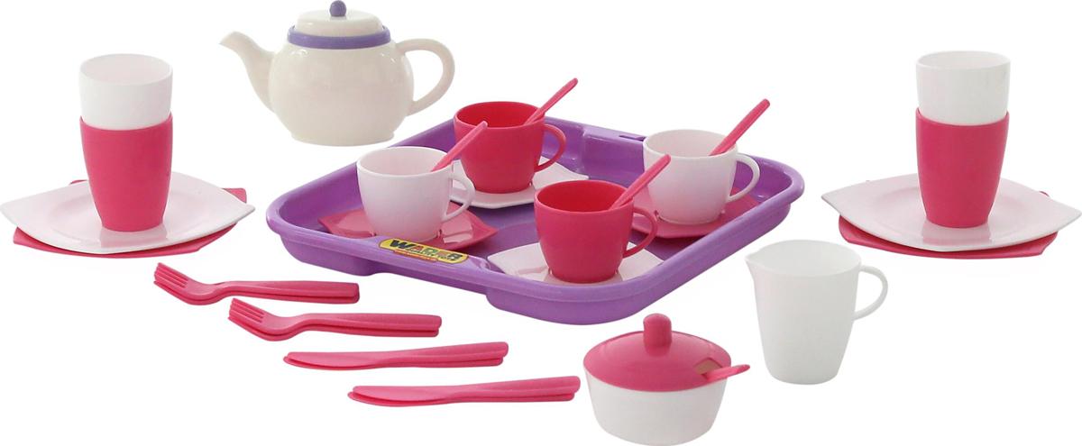 Полесье Набор игрушечной посуды Алиса 58973 легковой автомобиль полесье жук 0780