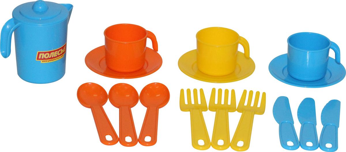 Полесье Набор игрушечной посуды Анюта 3834 легковой автомобиль полесье жук 0780