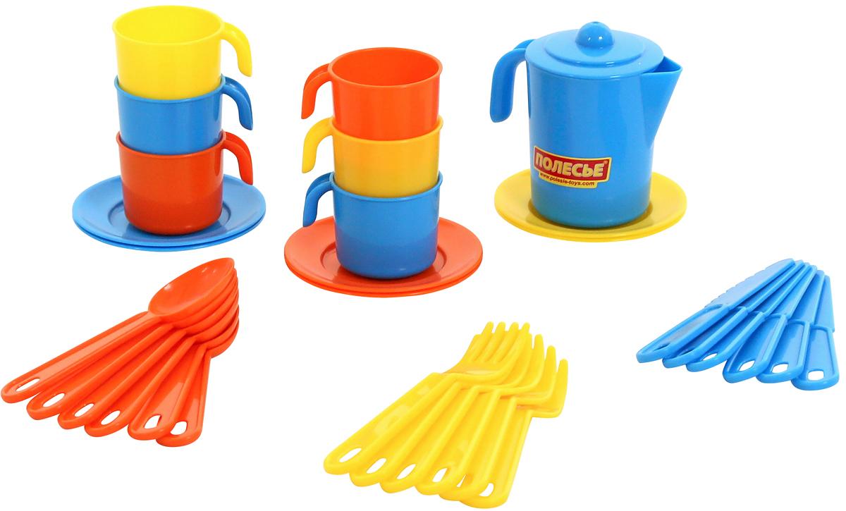 Полесье Набор игрушечной посуды Анюта 3858 полесье набор для песочницы 469