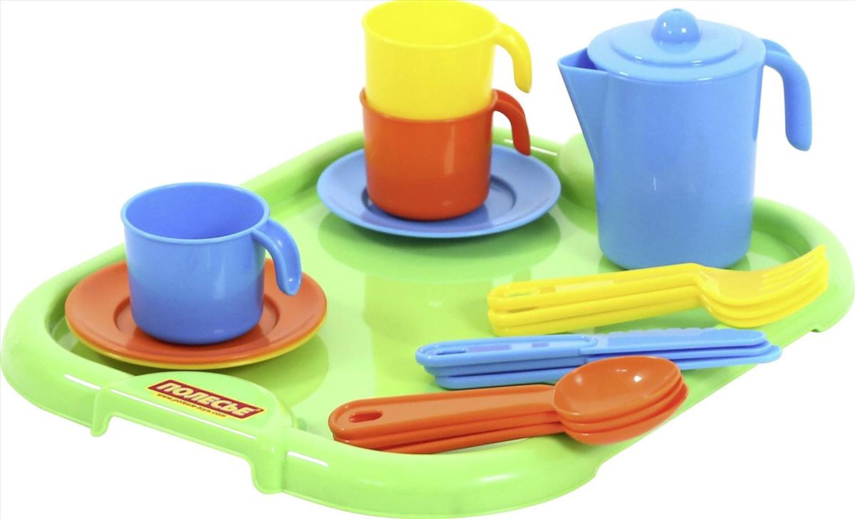 Полесье Набор игрушечной посуды Анюта 3872 легковой автомобиль полесье жук 0780