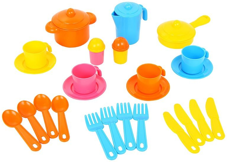 Полесье Набор игрушечной посуды Настенька 3926 полесье набор для песочницы 469
