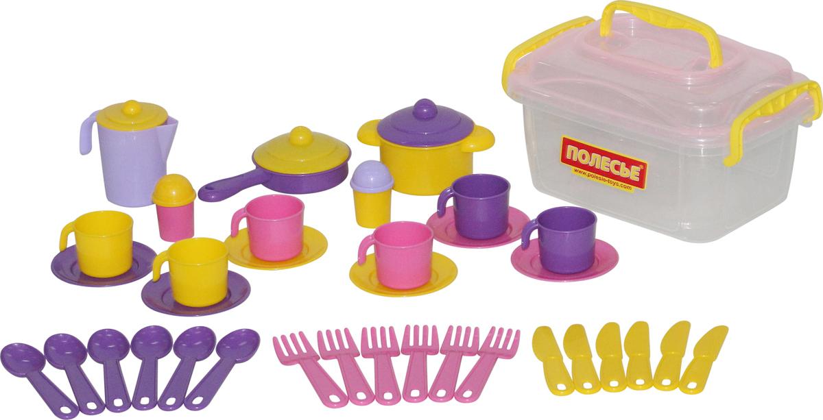 Полесье Набор игрушечной посуды Настенька 56580 полесье набор для песочницы 469
