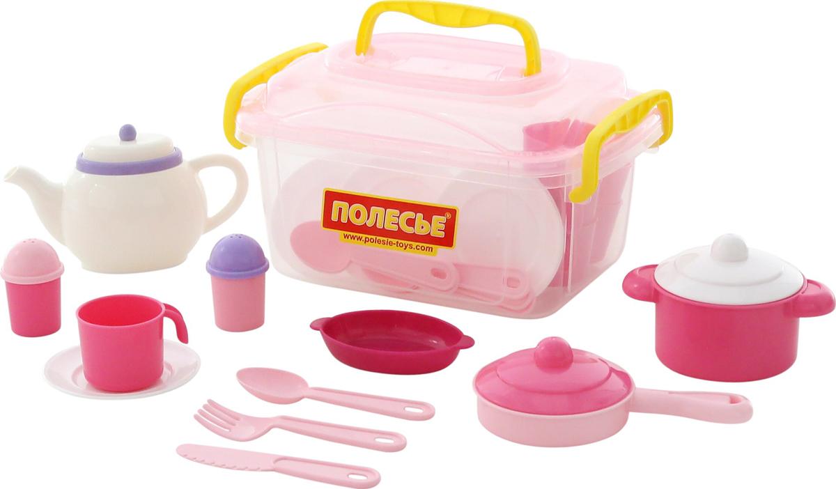 Полесье Набор игрушечной посуды Настенька 59055 полесье набор для песочницы 469