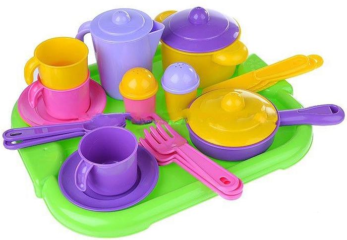 Полесье Набор игрушечной посуды Настенька 3957 легковой автомобиль полесье жук 0780