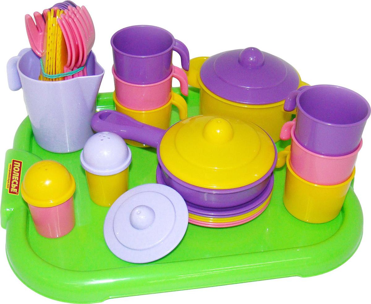 Полесье Набор игрушечной посуды Настенька 3971 легковой автомобиль полесье жук 0780