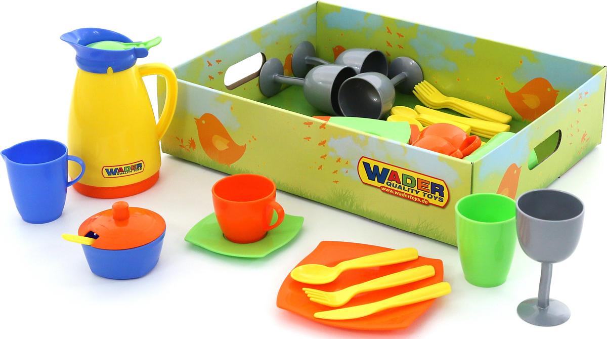 Полесье Набор игрушечной посуды Праздничный легковой автомобиль полесье жук 0780