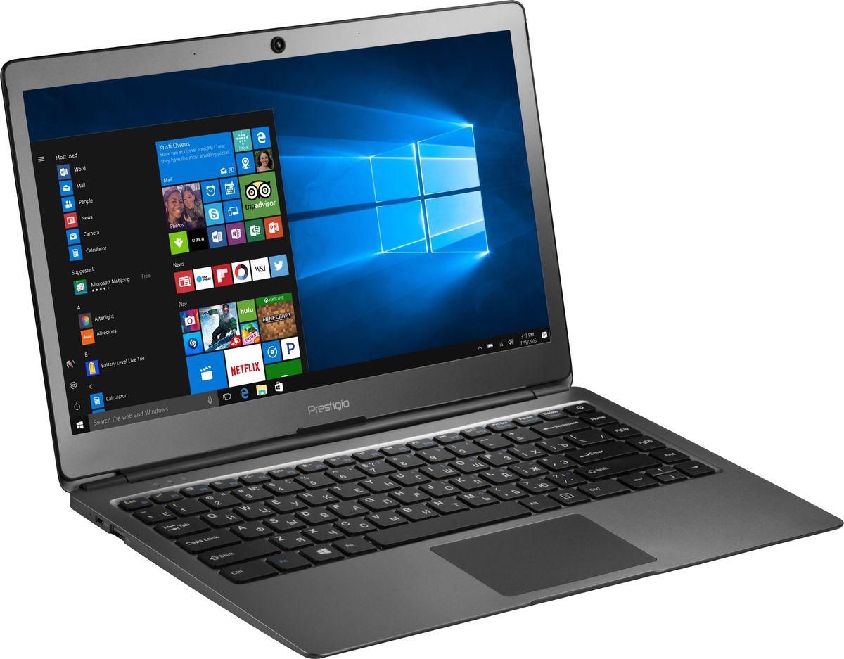 Prestigio SmartBook 133S, Dark Grey (PSB133S01ZFH_DG_CIS)PSB133S01ZFH_DG_CISPrestigio SmartBook 133S - лёгкий и надёжный помощник для тех, кто любит функциональные мобильные девайсы. Это современный ноутбук с экраном 13.3, полной версией ОС Windows и универсальным набором портов. Эффективная многозадачность, отличная функциональность, высококачественный дисплей, современный дизайн и способность новой модели ноутбука к быстрому и лёгкому апгрейду - именно эти характеристики привлекают в первую очередь.Smartbook 133S работает на двухъядерном процессоре Intel Celeron N3350 (частота до 2.4 ГГц). Он позволяет быстро справляться с любыми задачами по бизнесу или учебе, поэтому подойдёт как деловым людям, так и студентам. Оперативная память в 3 ГБ позволяет работать в режиме многозадачности без надоедливых зависаний и замедлений.Ноутбук оснащён 13.3-дюймовым Full HD экраном. Матрица IPS обеспечивает чёткое изображение и насыщенные цвета.Smartbook 133S не нуждается в переходниках: два высокоскоростных порта USB 3.0 и micro HDMI обеспечивают лёгкое подключение любых девайсов - большой экран, мышь, принтер или сканер.С Windows 10 Pro вы сможете наслаждаться всеми преимуществами современной операционной системы. Интуитивно понятный интерфейс поможет быстрее и эффективнее справляться с задачами, улучшенная производительность позволит вам почувствовать новый уровень мощности, а благодаря дополнительным сервисам и приложениям каждая секунда с новым устройством будет полна комфорта и восхищения.Точные характеристики зависят от модели.Ноутбук сертифицирован EAC и имеет русифицированную клавиатуру и Руководство пользователя