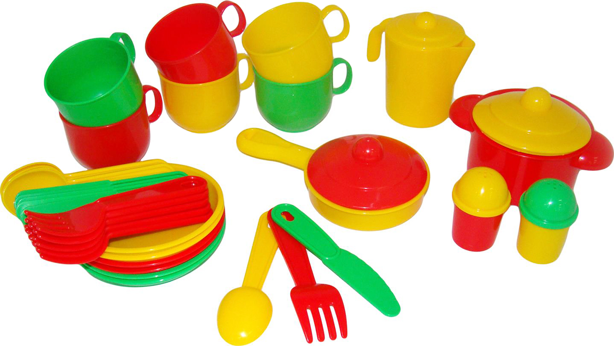 Полесье Набор игрушечной посуды Хозяюшка 4015 полесье набор для песочницы 469
