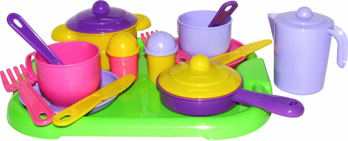 Полесье Набор игрушечной посуды Хозяюшка 4053 легковой автомобиль полесье жук 0780