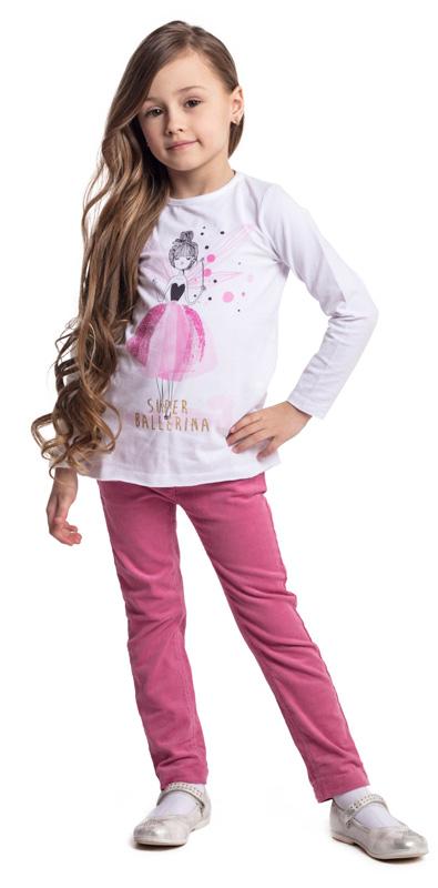 Брюки для девочки PlayToday, цвет: розовый. 372013. Размер 122372013Практичные вельветовые брюки PlayToday выполнены из эластичного хлопка. Классическая пятикарманная модель дополнена шлевками. При необходимости можно использовать ремень. Изнутри пояс можно отрегулировать за счет удобной резинки на пуговицах.