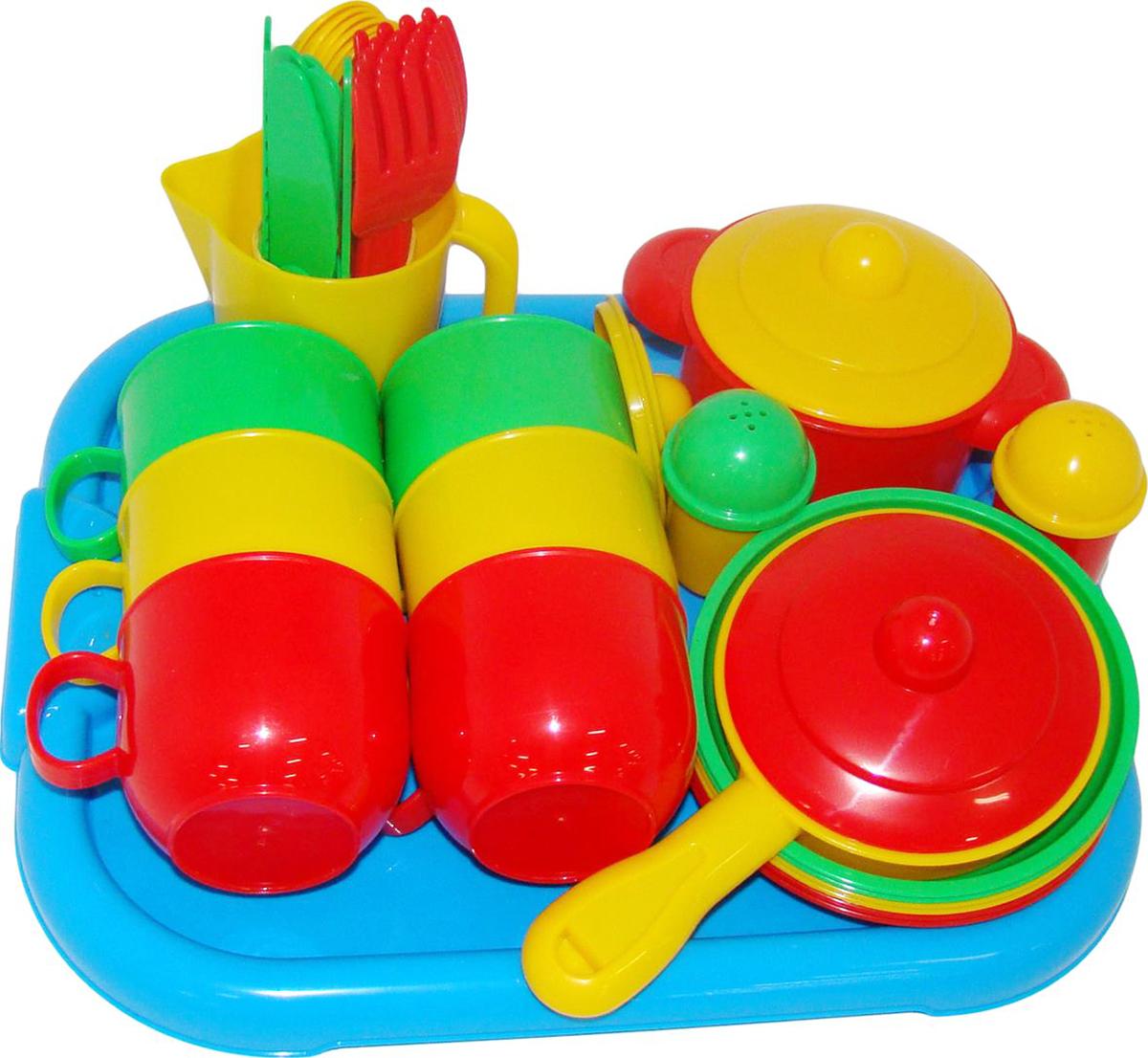 Полесье Набор игрушечной посуды Хозяюшка 4022 легковой автомобиль полесье жук 0780