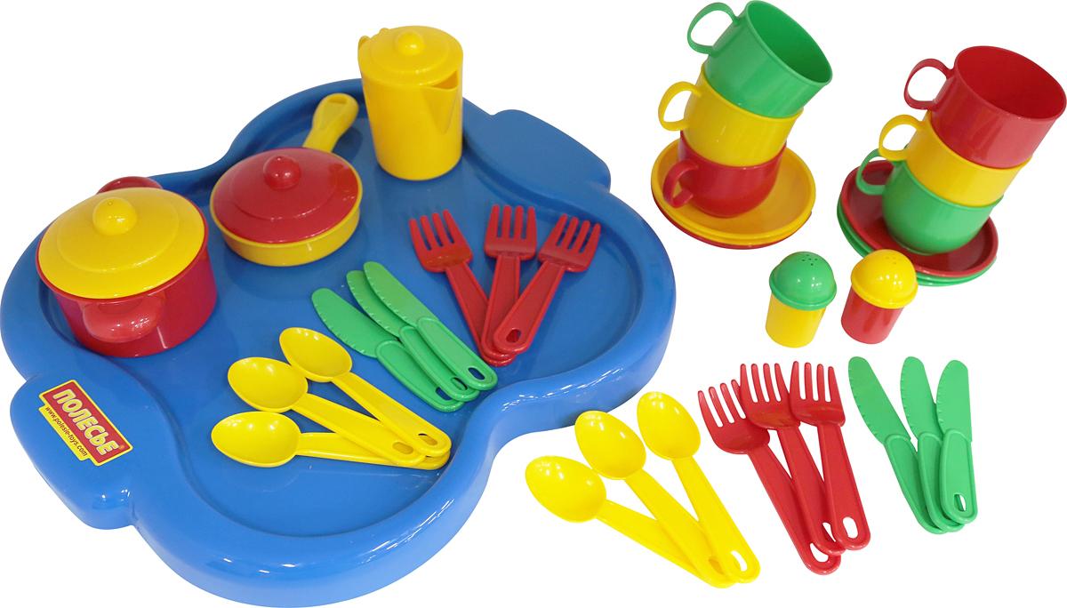 Полесье Набор игрушечной посуды Янина 4077 легковой автомобиль полесье жук 0780
