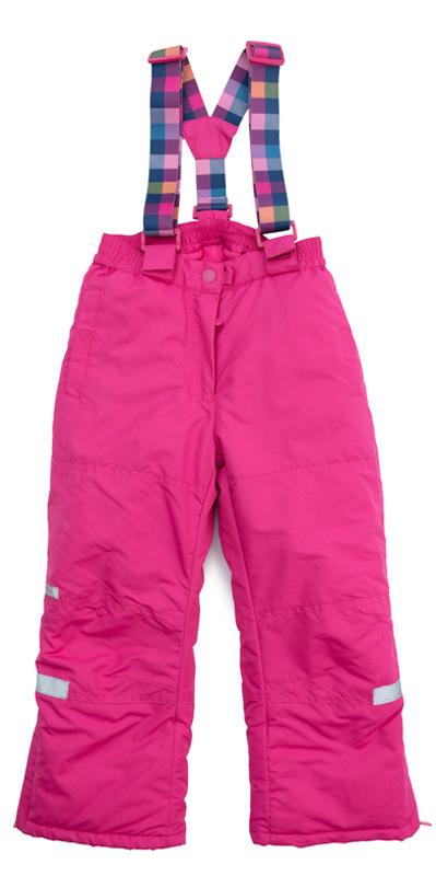 Брюки утепленные для девочки PlayToday, цвет: розовый. 379003. Размер 104379003Утепленные брюки PlayToday выполнены из водонепроницаемой ткани. Регулируемые лямки на липучках при необходимости их можно отстегнуть. Пояс на широкой резинке. Брюки застегиваются на молнию и кнопку. Низ штанин дополнен специальными манжетами со штрипками. Светоотражатели обеспечат видимость ребенка в темное время суток. Брюки с втачными карманами на липучках.
