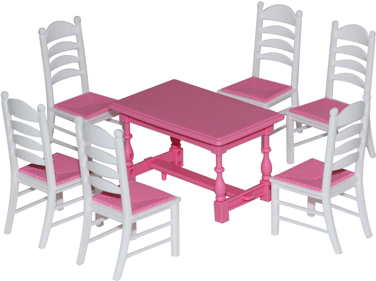 Полесье Набор мебели для кукол №6 цвет розовый белый