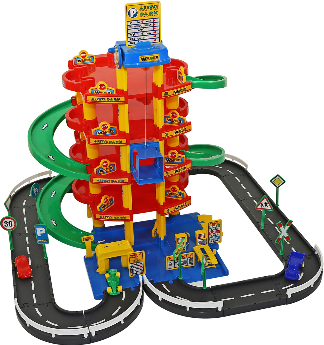 Полесье Парковка 5 уровней с дорогой и автомобилями - Транспорт, машинки