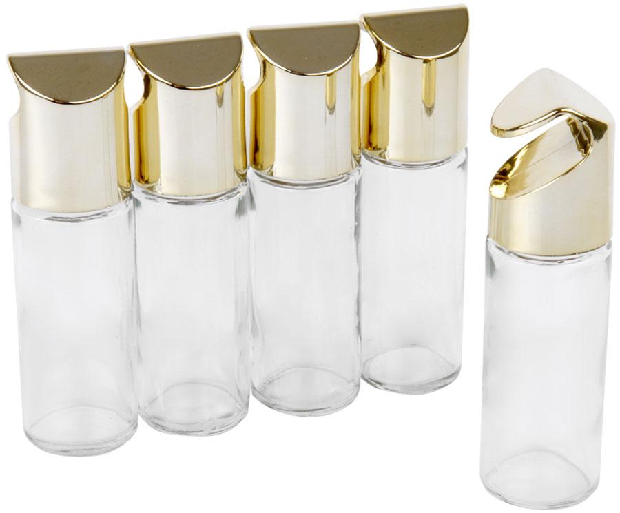 Набор для специй Rosenberg, на рейлинг, цвет: золотой, 5 шт. RGL-280013-5RGL-280013-5Набор банок для специй на рейлинг, 5 шт.