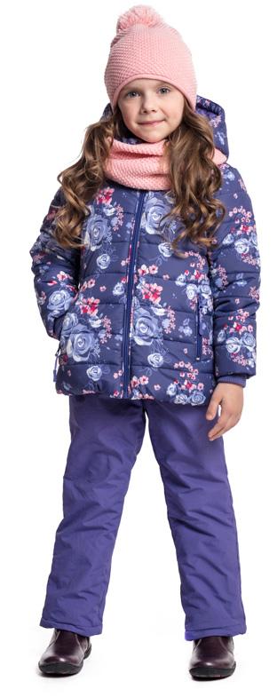 Брюки утепленные для девочки PlayToday, цвет: фиолетовый. 372056. Размер 110372056Утепленные брюки PlayToday из водоотталкивающей ткани - отличное решение для промозглой погоды. Пояс на широкой удобной резинке, дополнен регулируемым шнуром-кулиской. Подкладка из мягкого флиса. Модель дополнена вшивными карманами. Низ брючин на шнурах-кулисках.