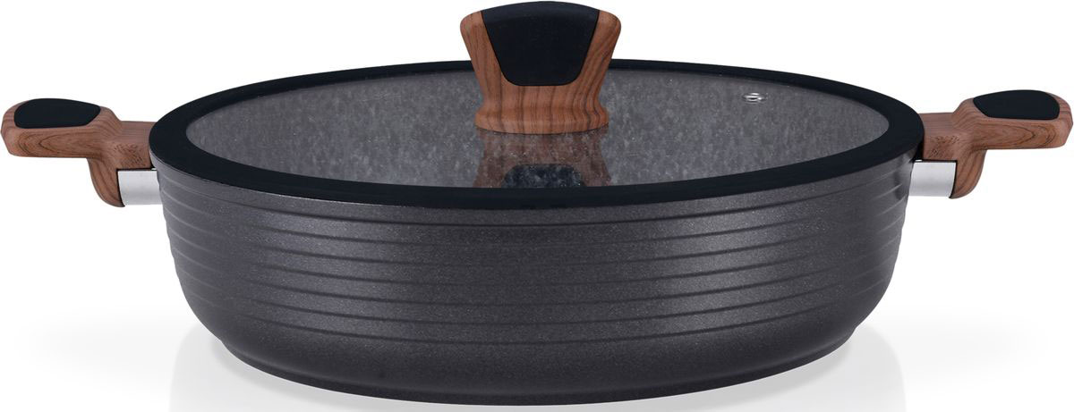 Сотейник Fissman Diamond Grey, с антипригарным покрытием. Диаметр 28 смAL-4306.28Перед первым использованием посуду следует помыть и протереть сухой тряпкой. Затем слегка смазать поверхность маслом или жиром, что делает антипригарное покрытие готовым к использованию и обеспечивает лучшие результаты при приготовлении пищи.