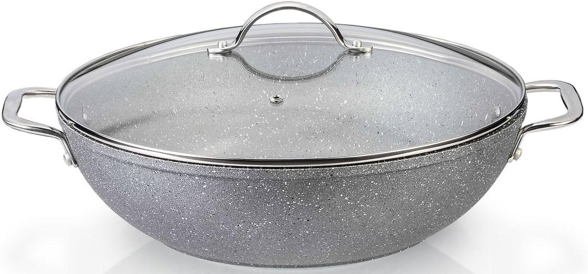 Вок Fissman Moon Stone, с крышкой, с антипригарным покрытием. Диаметр 28 см какую лучше сковороду вок