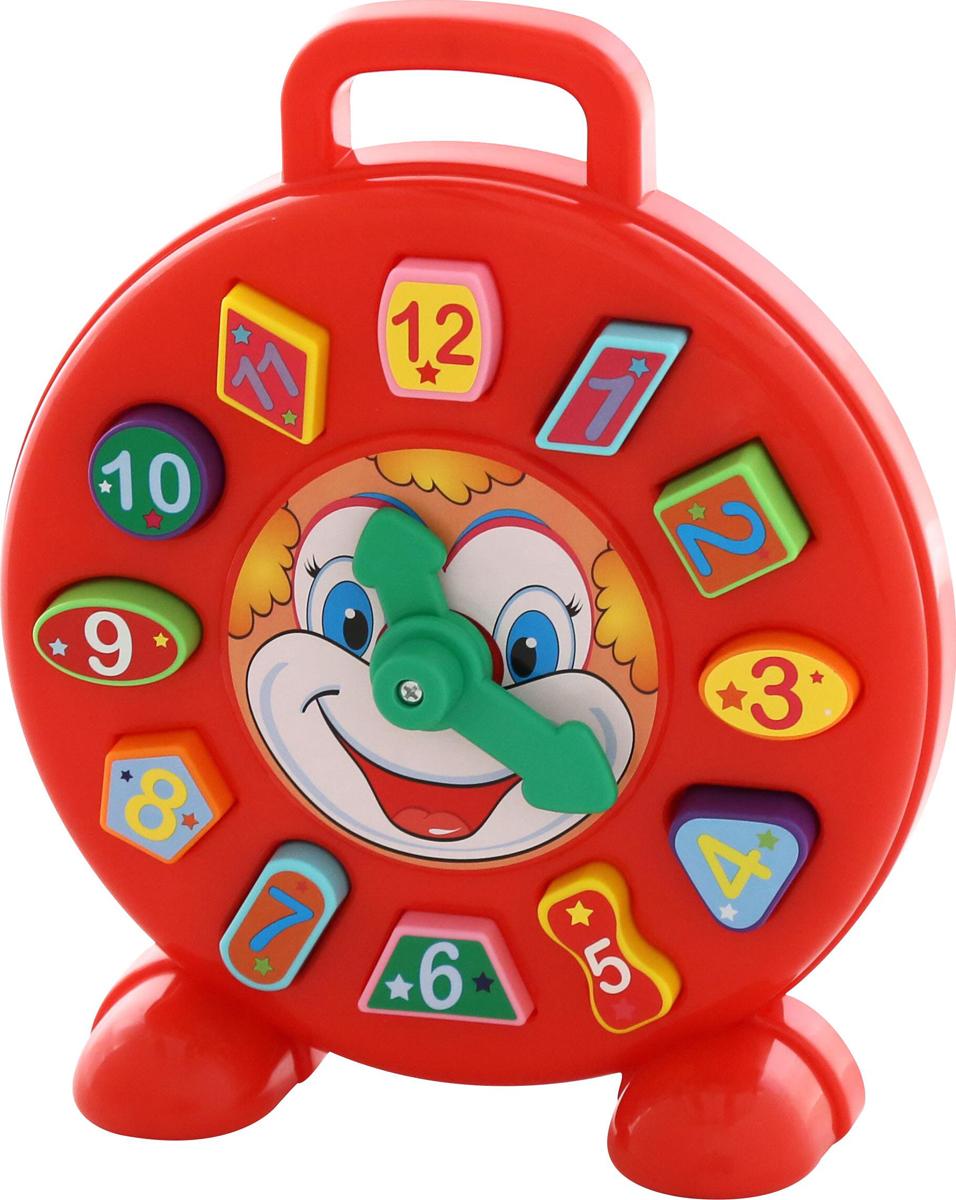 Полесье Развивающая игрушка Часы Клоун