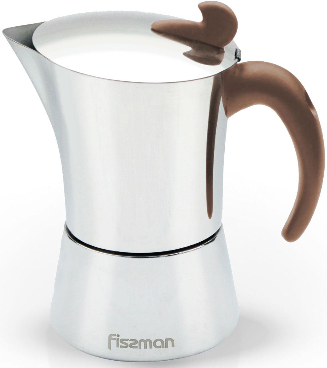 Кофеварка гейзерная Fissman, на 6 порций, 360 млEM-9415.9Перед первым использованием посуду следует помыть и протереть сухой тряпкой.Как выбрать кофеварку. Статья OZON Гид