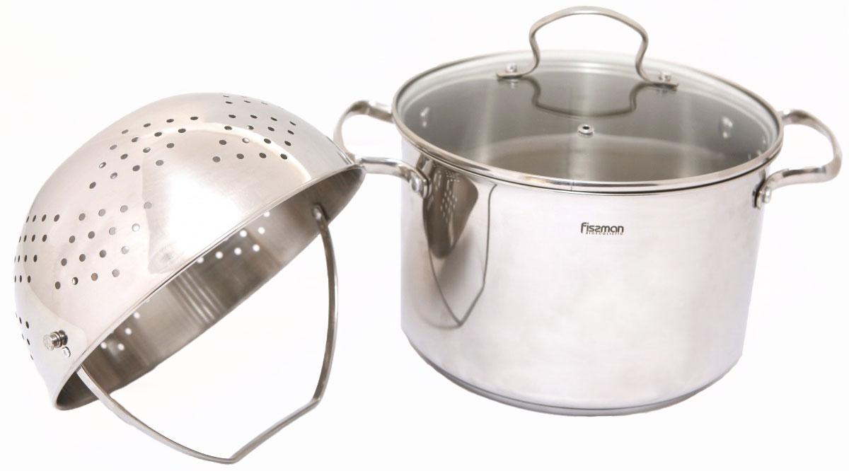 Кастрюля Fissman, с крышкой, с дуршлагом, 6,8 лSS-5096.24Перед первым использованием посуду следует помыть и протереть сухой тряпкой.