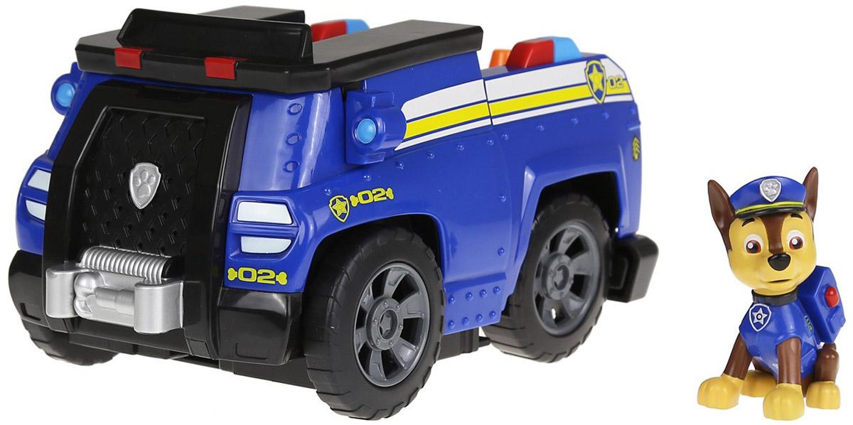 Paw Patrol Игровой набор Машина-трансформер и щенок Chase - Игровые наборы
