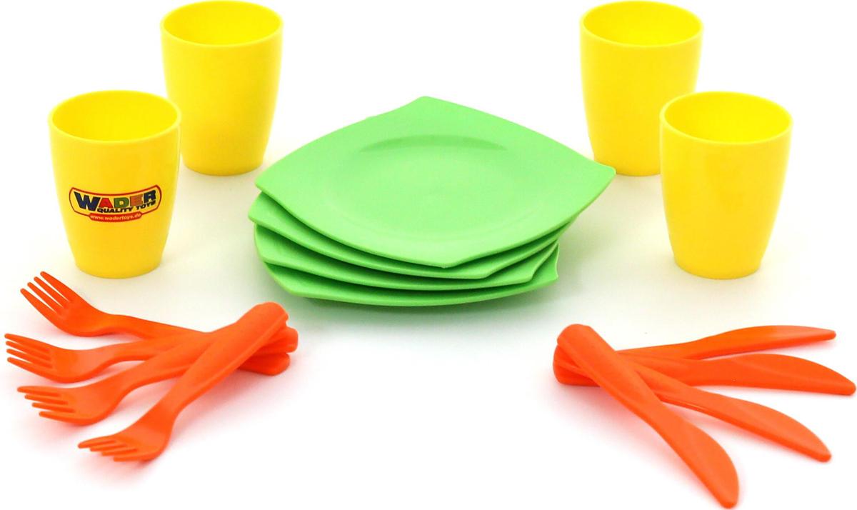 Полесье Столовый набор игрушечной посуды на 4 персоны кукольные домики и мебель tigres набор посуды ромашка на 4 персоны большой