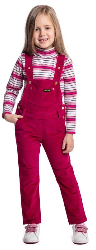Водолазка для девочки PlayToday, цвет: розовый, белый. 372025. Размер 110372025Водолазка PlayToday выполнена из эластичного хлопка. Модель с длинными рукавами и воротником-гольф имеет свободный крой, который не сковывает движений. Модель декорирована принтом в полоску.