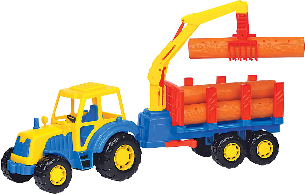 Полесье Трактор Алтай с полуприцепом-лесовозом бу двигатель на трактор