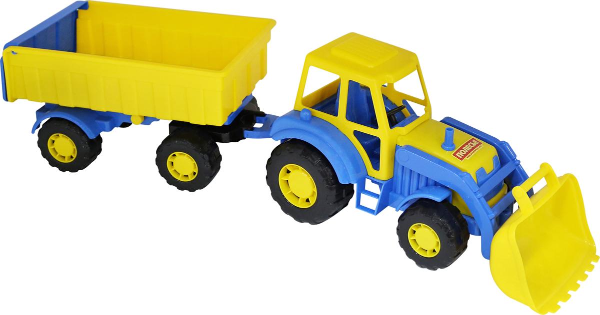 Полесье Трактор Алтай с прицепом №1 и ковшом полесье конструктор автомобиль легковой с прицепом