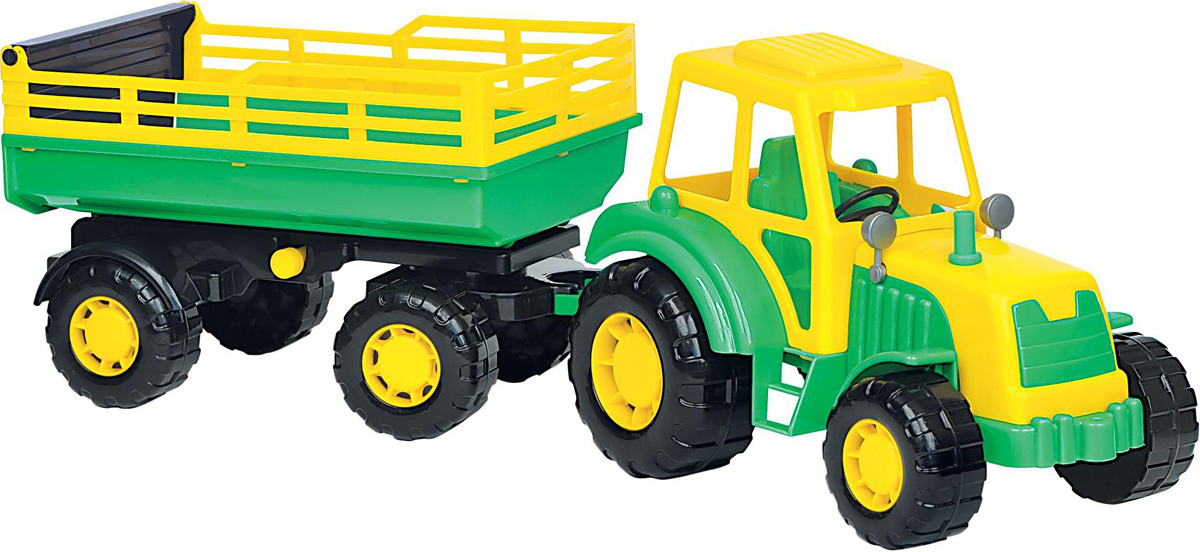 Полесье Трактор Алтай с прицепом №2 трактор с прицепом dickie fendt 41 см